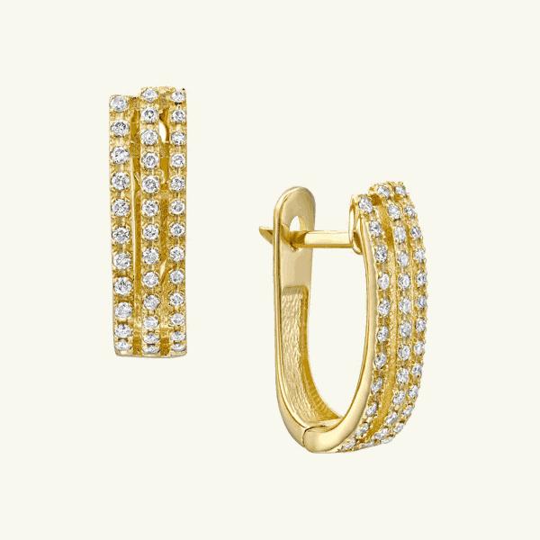 עגילי יהלומים Tamara